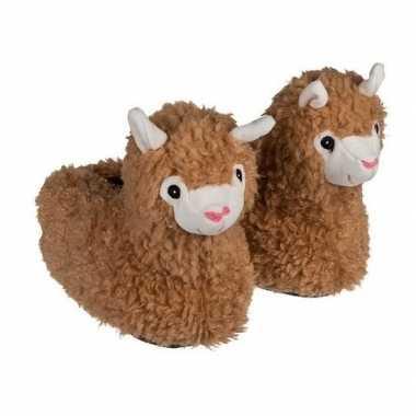 Alpaca/lama pantoffels voor meisjes maat 31/32 kind