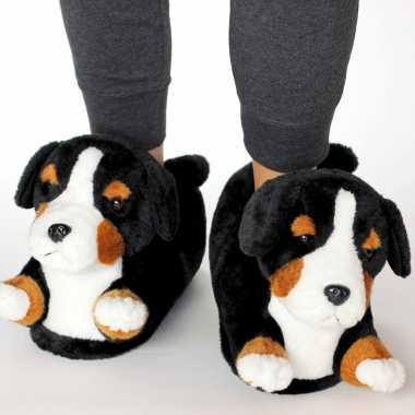 Dieren berner sennen hond pantoffels/sloffen voor kinderen maat 34 36