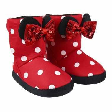 Disney minnie mouse 3d sloffen/pantoffels voor meisjes kind