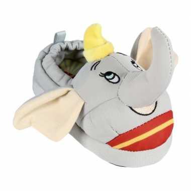Grijze disney dumbo/dombo 3d sloffen/pantoffels voor kinderen