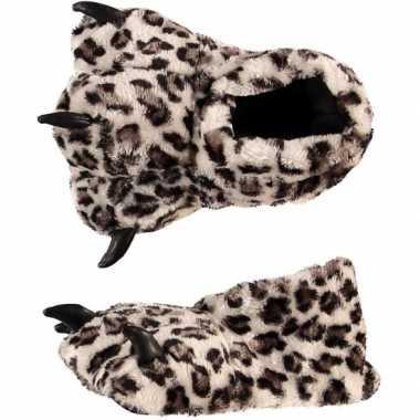 Kinder pantoffels luipaardpoot