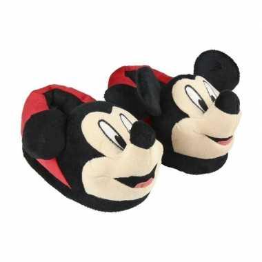 Mickey mouse 3d sloffen/pantoffels voor jongens kind
