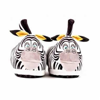 Pantoffels  Dierensloffen zebra Marty voor kids kind