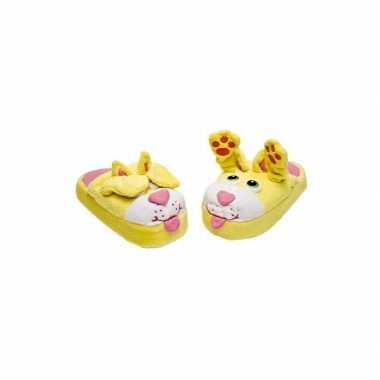 Pantoffels gele kinder sloffen poes