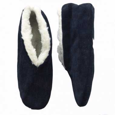 Pantoffels  Gevoerde spaanse kinder sloffen navy