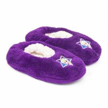 Pantoffels kinderslof frozen paars