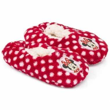 Pantoffels kinderslof minnie mouse rood