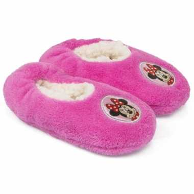 Pantoffels kinderslof minnie mouse roze