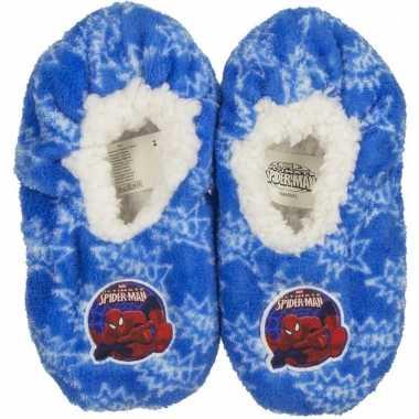 Pantoffels kinderslof spiderman blauw voor jongens