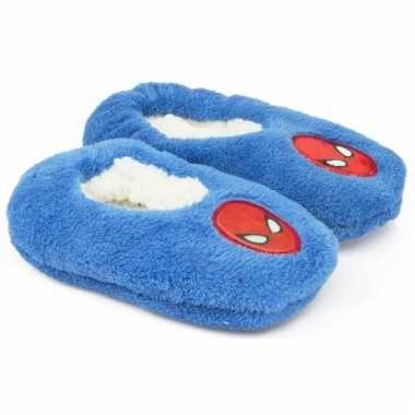 Pantoffels kinderslof spiderman blauw