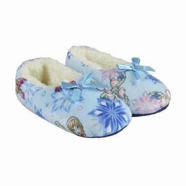 Pantoffels lichtblauwe frozen kindersloffen