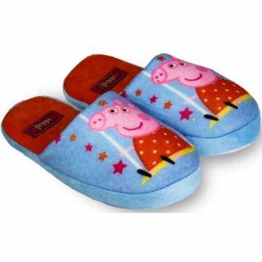 Peppa pig pantoffels blauw kind