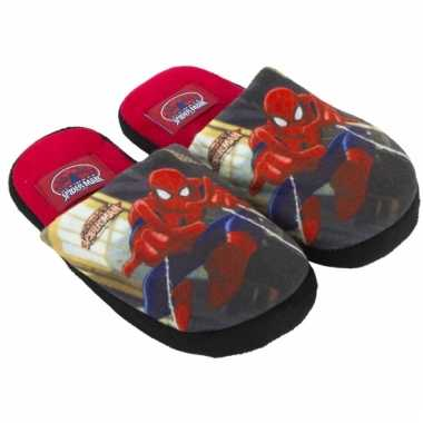 Spiderman pantoffels rood kind