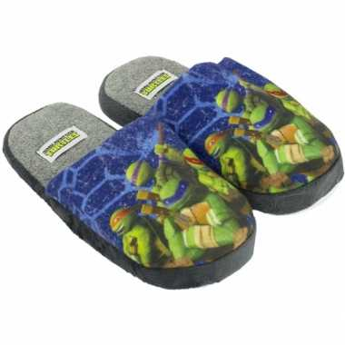 Turtles pantoffels blauw kind