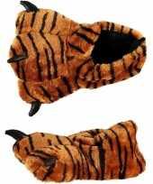Kinder pantoffels tijgerpoot