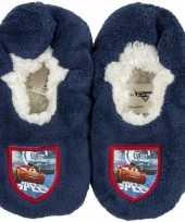Pantoffels kinderslof cars blauw voor jongens