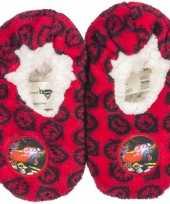 Pantoffels kinderslof cars rood voor jongens