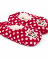 Pantoffels kinderslof minnie mouse rood