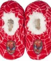 Pantoffels kinderslof spiderman rood voor jongens